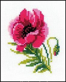 Pink Poppy - Wool - RIOLIS - dittbroderi.com