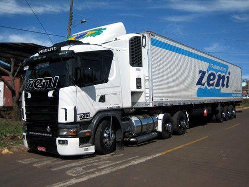 scania 124 400 : bueno aca les dejo una foto de la transportadora ZENI en brasil tiene camiones muy bonitos como los volvo fh y los scania top line que los veran mas adelante jejejeje.... | el_guri_dechuy23