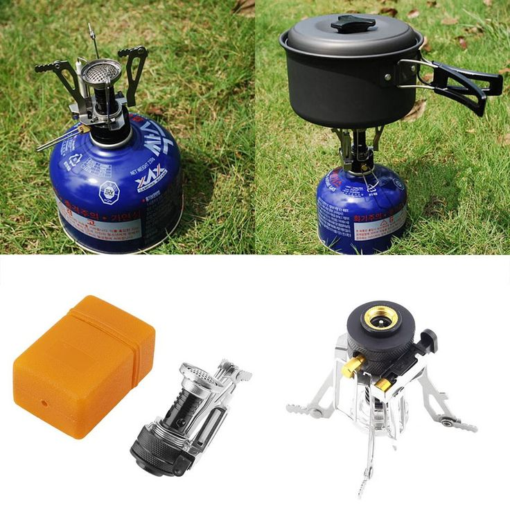 Folding Mini Camping Survival Cooking Furnace Stove Gas Outdoor free shipping