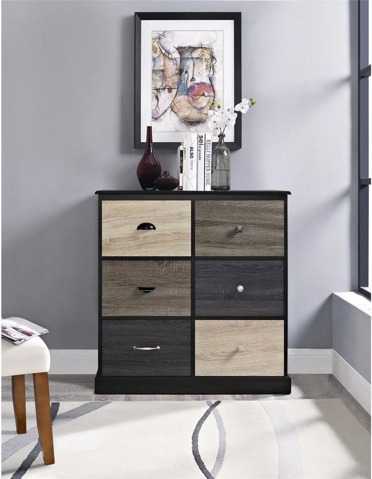 Contemporary Storage Cabinet Display Multicolored Door Fronts Black Finish New #Altra #Contemporary #Furniture #Storage #Cabinet #Multicolored