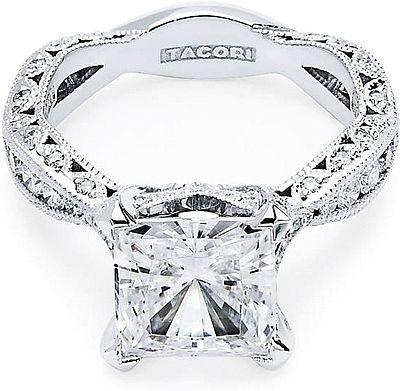 Tacori RoyalT Twist Princess Cut Diamond Engagement Ring  : THIS IS my engagement ring. omgggg.