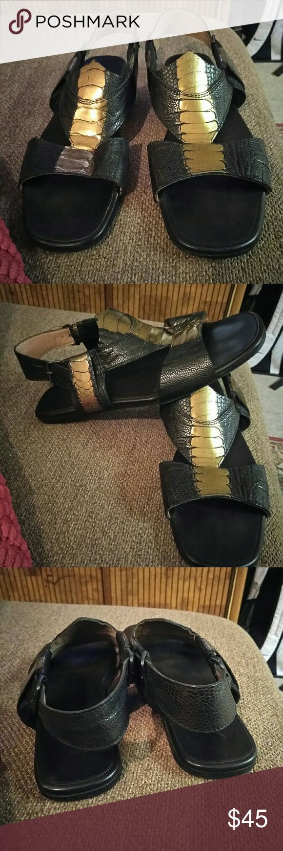 Sigerson Morrison leather Sandals Sigerson Morrison leather Sandals, preloved in good condition, has a little wear on bottom but nothing on heel. Sigerson Morrison Shoes Sandals