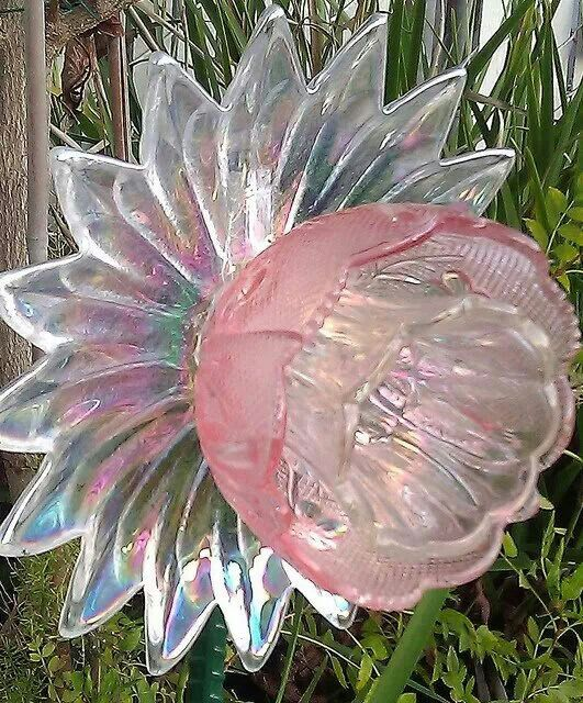 Garden glass flower