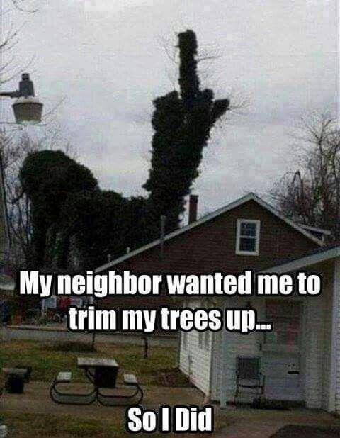 Adult humor. Annoying neighbors