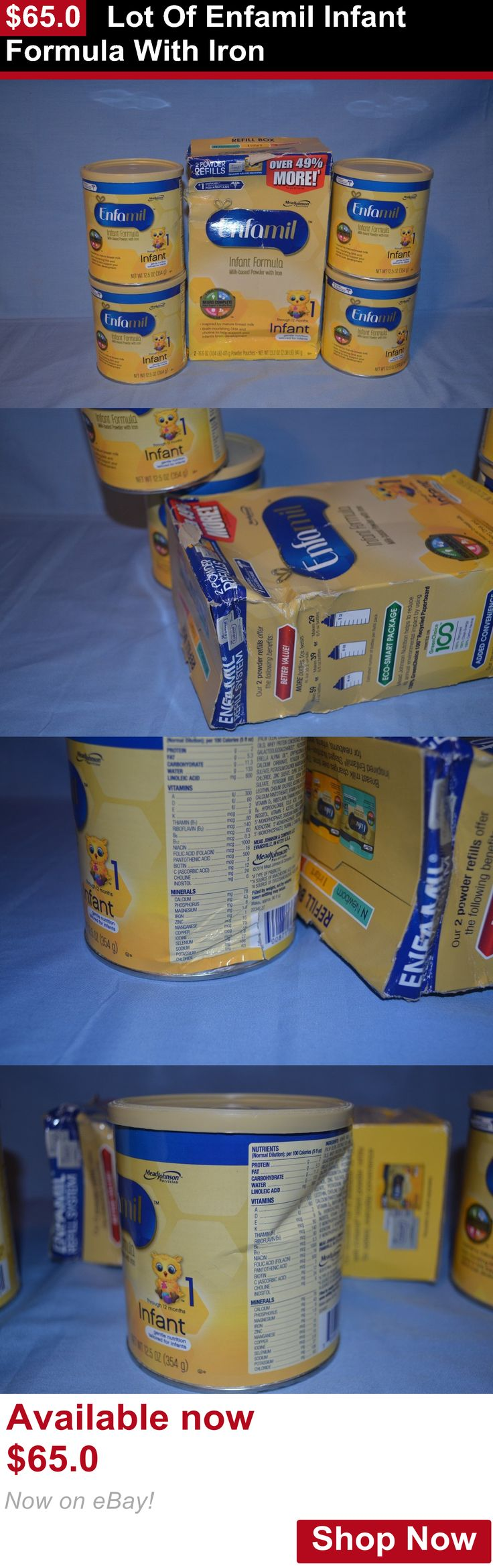 Baby Formula: Lot Of Enfamil Infant Formula With Iron BUY IT NOW ONLY: $65.0