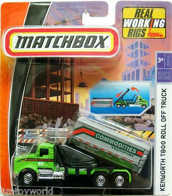 Kenworth T800 Roll Off Truck Matchbox Premium Working Rigs w/Real Working Hoist