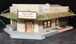 HO Scale Plumbing Supply Shop or Warehouse • Built Up, Detailed & Lighted  | eBay