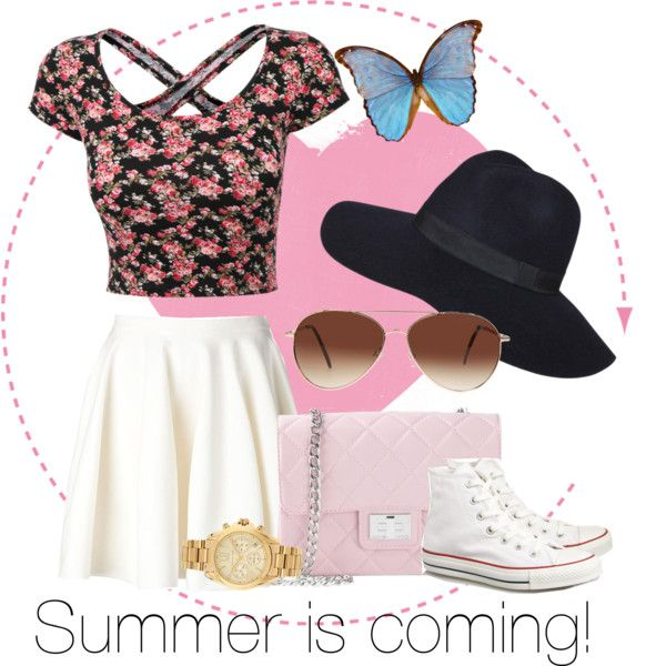Summer is coming! by amanda1301 on Polyvore featuring polyvore, fashion, style, Giambattista Valli, Converse, Design Inverso, Michael Kors, Eloquii, Summer, cute and 2015