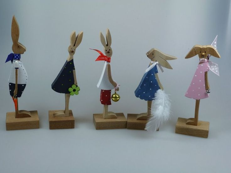 Popular Osterhasen Holzfiguren Osterhasen Hasenalarm ein Designerst ck von mw holzkunst bei DaWanda