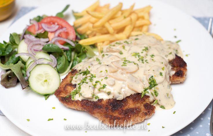 Schnitzel met champignonroomsaus   Keuken♥Liefde   Bloglovin'