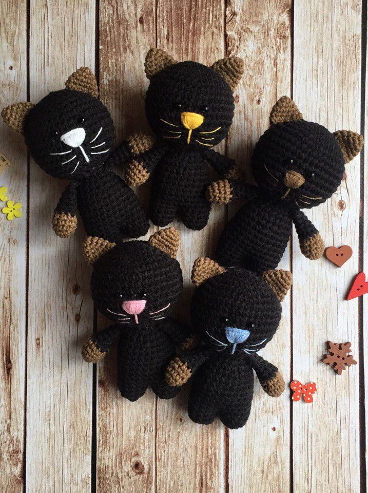 Love the pattern, the cats come out so cute. #free #crochet #pattern #amigurumi