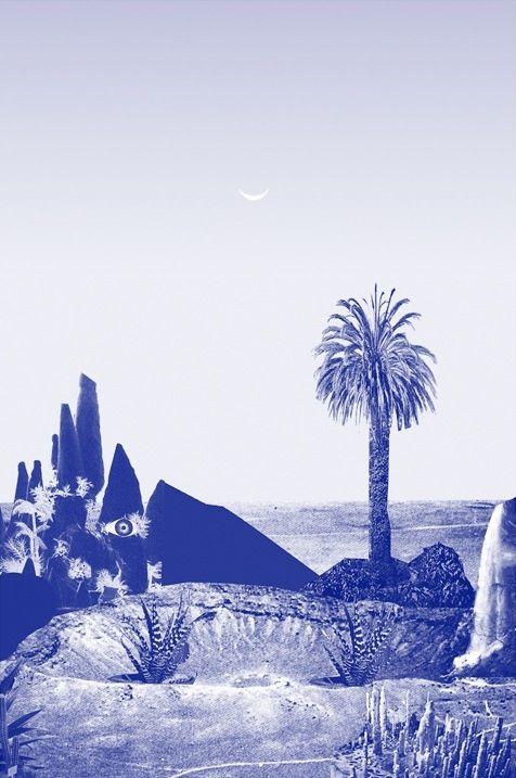 James Burgess - Crater Riso Print