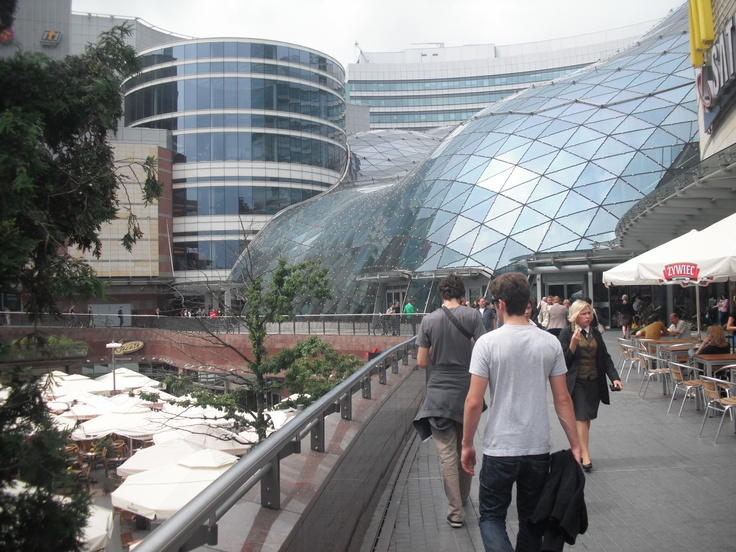 Warsaw, Poland.  Mall in the city center.