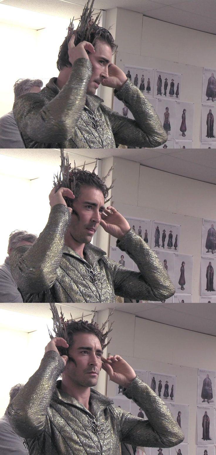 The Hobbit behind the scenes BTS - Lee Pace