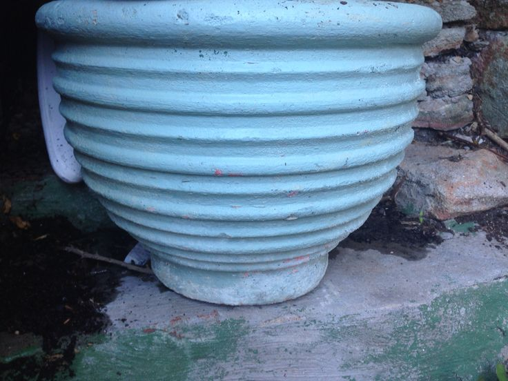 Multi striped pot  - found it at Kimbriki rubbish tip
