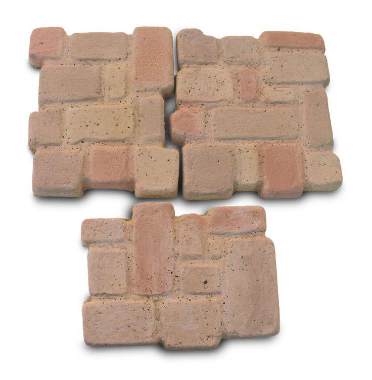 Selciato pietre del borgo. Piastre in pietra ricostruita per creare sentieri e vialetti nel giardino.