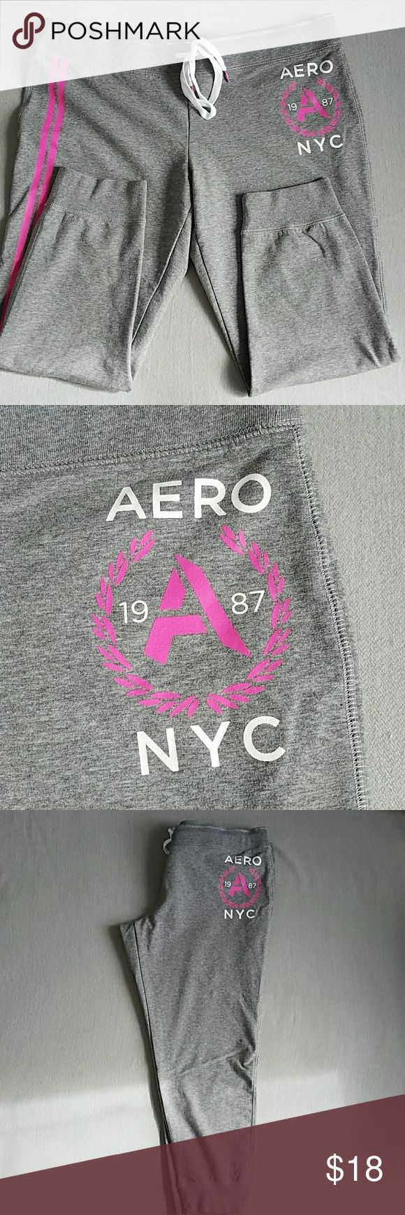 NWOT Aeropostale Slim Fit Joggers SZ XXL I took the tags off but they have never been worn. These are a slim fit cuffed ankle jogger. This is a Junior's brand so a 2X  may fit more like an X Large. Since these are a Slim Fit the legs run more fitted not super baggy like a boyfriend fit.   Please  see measurements. Gray W/Pink Aeropostale Pants Track Pants & Joggers