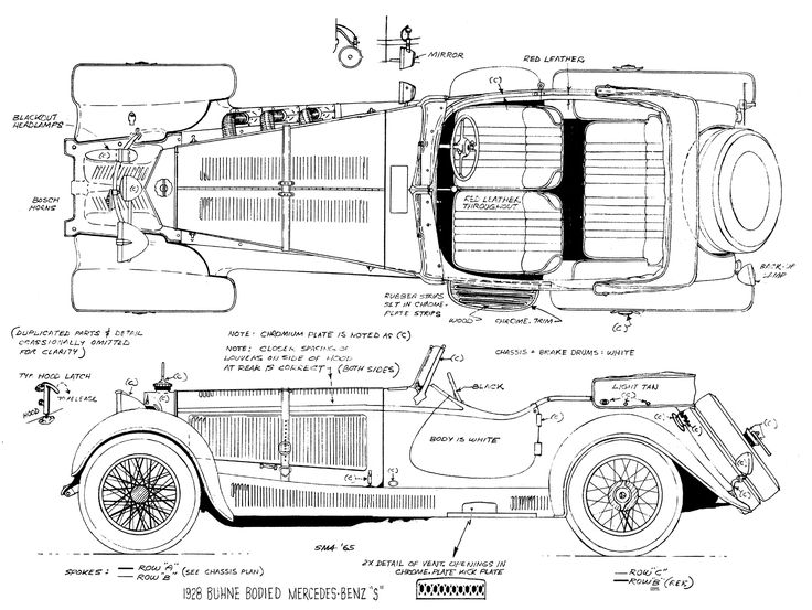 59 best classic cars blueprint images on Pinterest | Vintage cars ...