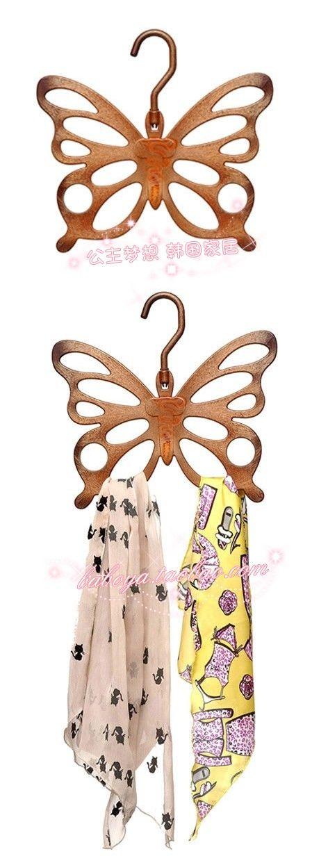 ★ ★ sueño princesa casa coreana * mariposa elegante bufanda de los * Perchas dedicados bufanda de rack-M1884 Taobao