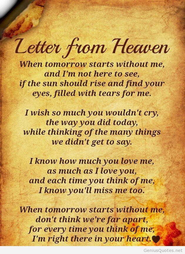 This is the letter from Heaven!