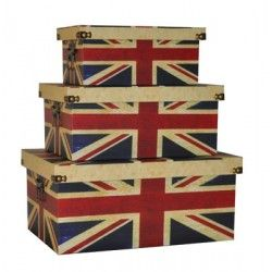 Love everything Brittish. How about this Union Jack, trunk set |Free delivery  in Australia at Red Wrappings|