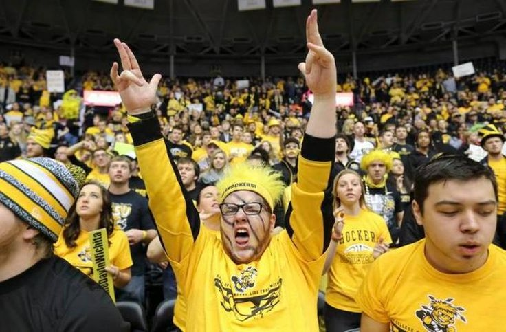 """Wichita State fans go crazy during the taping of """"College Gameday"""" on Saturday morning inside Koch Arena."""