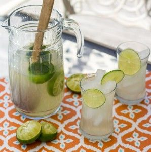 Thai Style Limeade with Lemongrass and Lime Leaves