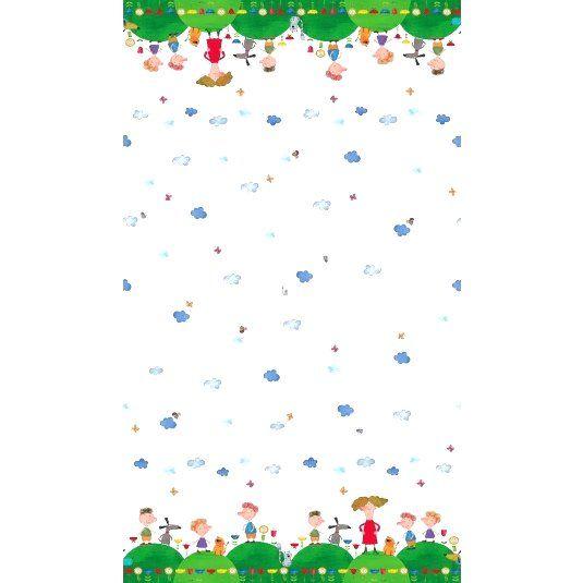 Stenzo16 1211 Cotton poplin digitaal rand fantasie multi