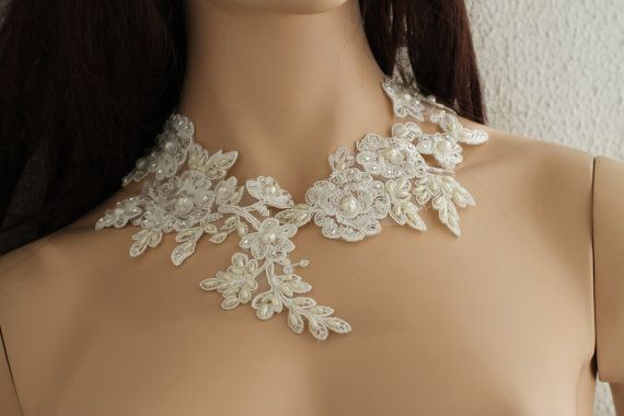 Lace Collar Necklace lace bridal necklace