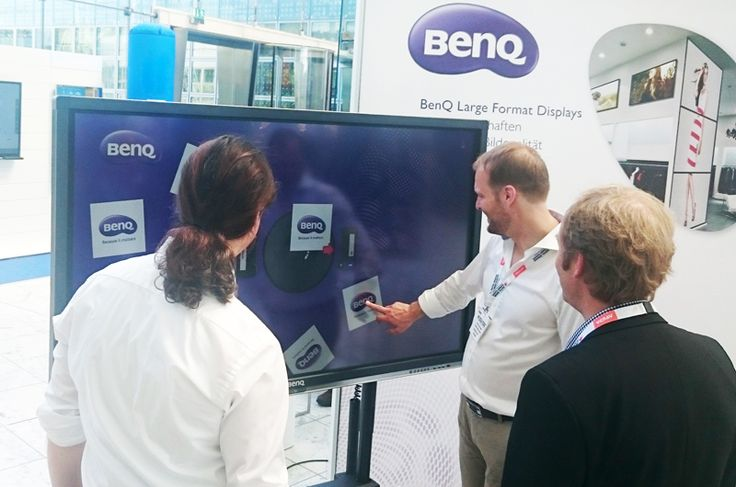 BenQ using eyefactive's interactive signage cms software AppSuite at Digital Signage Summit Europe in Munich.