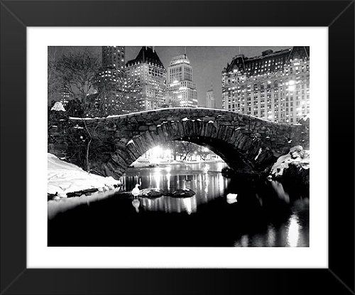 New york pond in winter photographic print by bettmann black and white