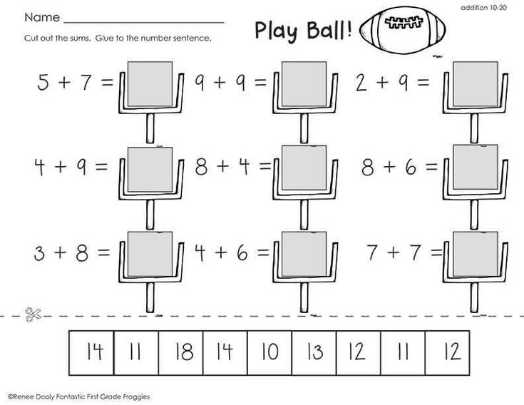 Football math freebie