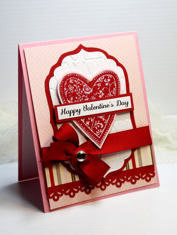 Valentine's Day Card  Handmade Card  3D Greeting by CardInspired