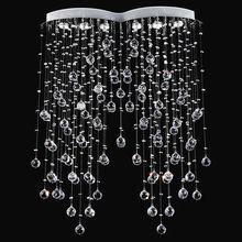 Современная Подвеска Освещения Симметрии Rain Drop Хрустальная Люстра Светильник для Гостиной Столовая Спальня