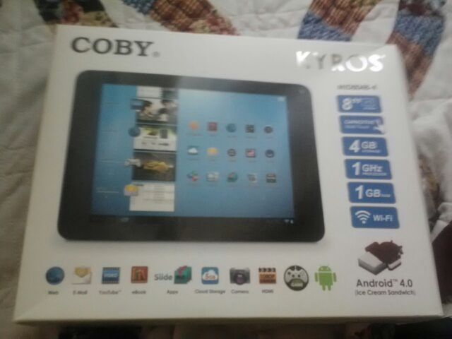 8 Coby Tablet with camera