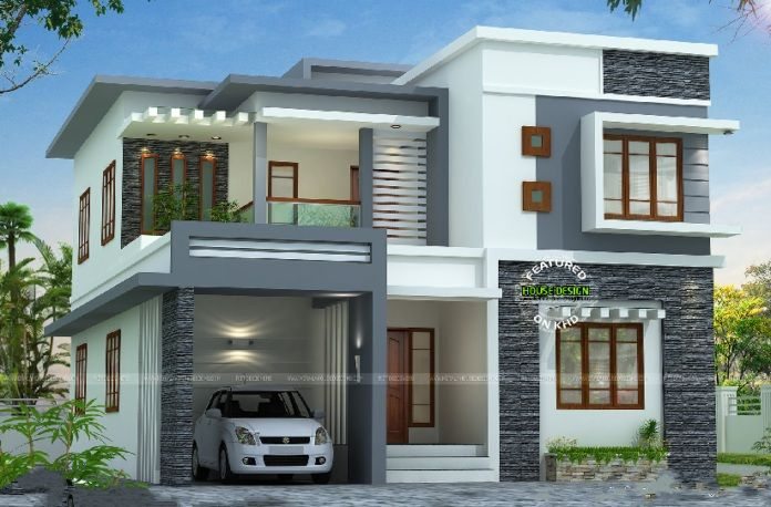 Discover The Limitless Concepts Of Residential Architecture A Contemporary Two Story Residence Kerala House Design Two Story House Design Duplex House Design
