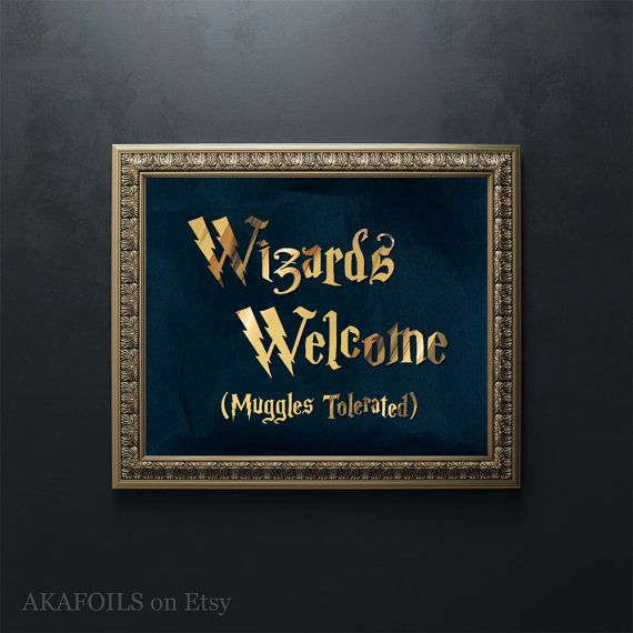Harry Potter Halloween Wizards Welcome Muggles Tolerated ...