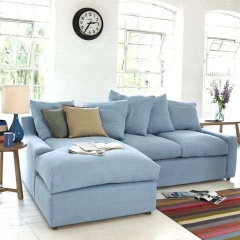 "CLOUD SOFA CHAISE - How comfy is this sofa? The clue is in the name. We like the way the back cushions are of differing sizes and have ""box edges"" as it lifts the whole feel to a classy, laid-back level."