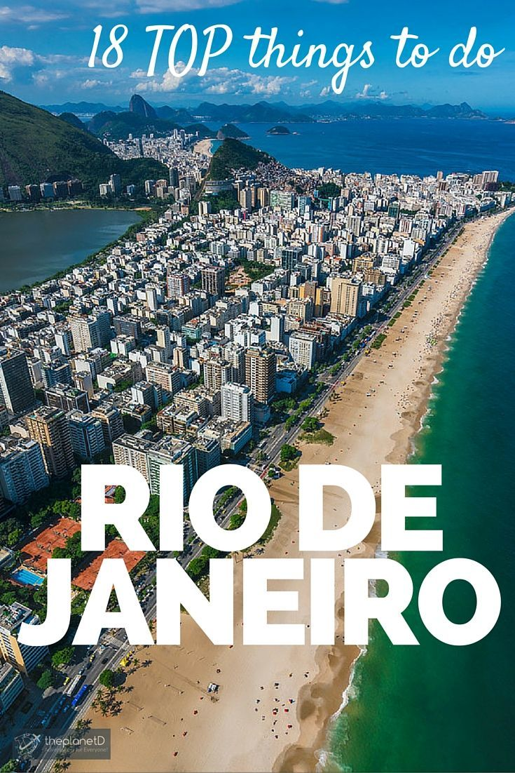 The Top 18 Most Excellent Things to do in Rio de Janeiro - The host of the 2016 summer Olympics and the 2014 World Cup, it's got the world's attention and everyone is watching. If you want to maximize your time in Rio, make sure to follow our tops pics of the 18 most excellent things to do in Rio de Janeiro | The Planet D Adventure Travel Blog: