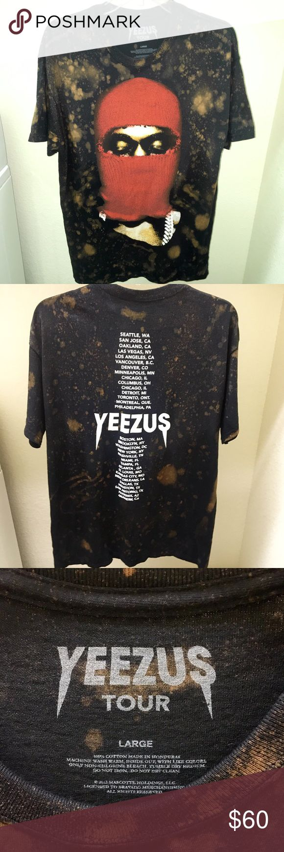 CUSTOM BLEACHED YEEZUS TOUR SHIRT Brand new, never worn. Men's shirt size large. Yeezy Tops Tees - Short Sleeve