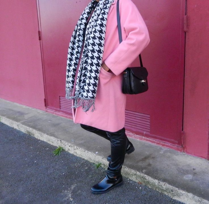 A pink coat for winter