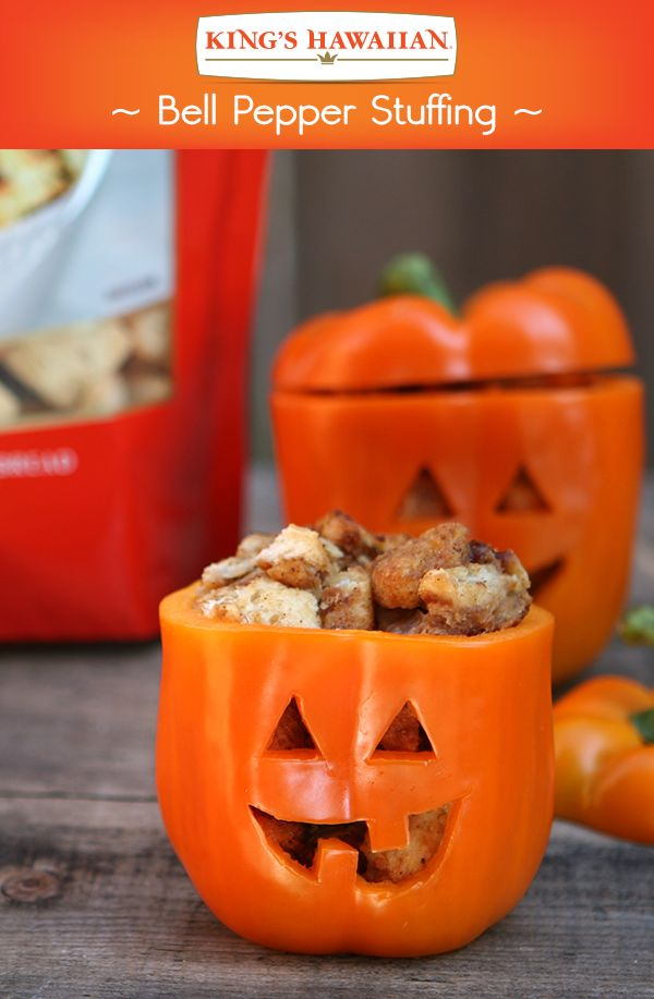 Add another spooky smile to your Hallowaiian guest list! Made with KING'S HAWAIIAN Classic Stuffing.