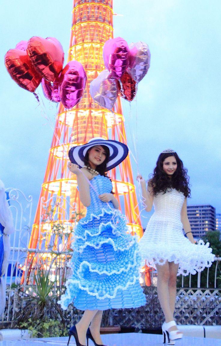 バルーンドレス model  チュアンスポー明梨 濱崎美潤 photographer noriko Balloondress THE TERRACE OF KOBE PACIFIC【Tiara Princess 〜Fashion Show&Beauty Viking〜】
