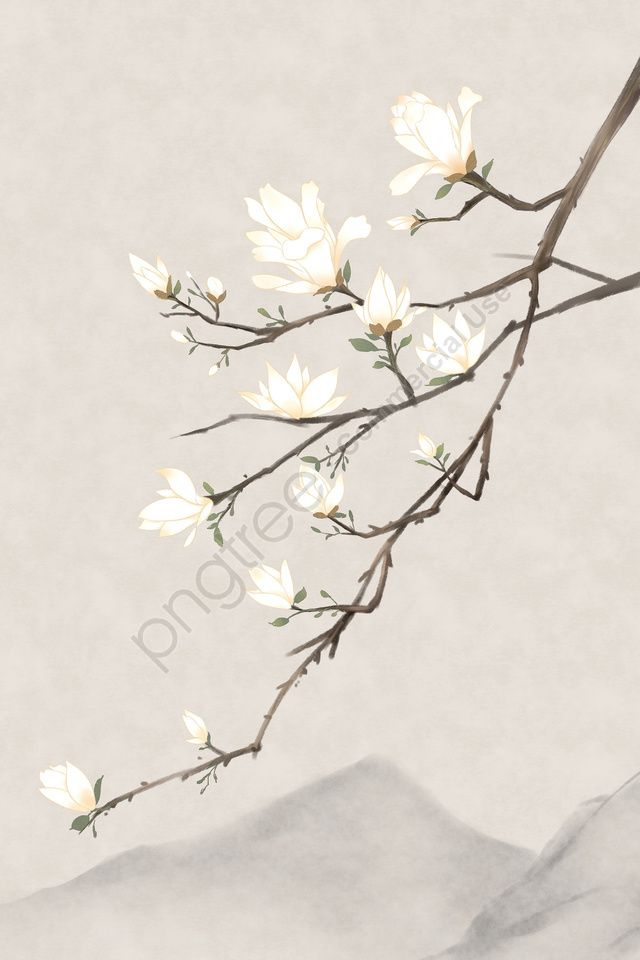 Ancient Flower Painting Magnolia Flower Classical Antiquity Chinese Style Plant Illustration Image On Pngtree Free Download On Pngtree In 2020 Flower Painting Flower Art Drawing Magnolia Paint