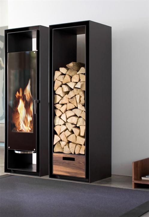 Minimalist-Fireplace-and-Logs-Storage