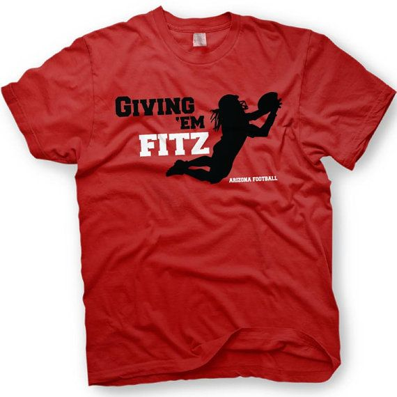 Giving em Fitz - Larry Fitzgerald - Arizona Cardinals Football - Funny T-Shirt This Giving em Fitz t-shirt is printed on 6.1 oz ultra cotton