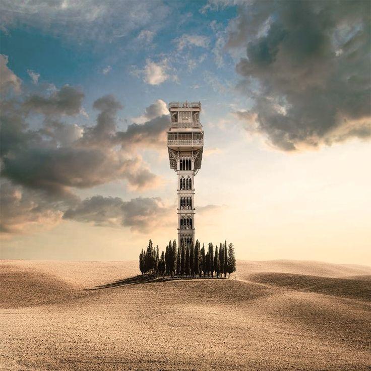 They Built An Elevator To The Sky.    #vancouverphotographer Paul Melo.   photo via paulmelo.com