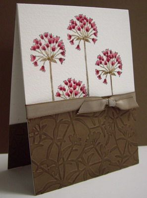 Stamping on WC paper, coloured with markers, embossed CS - 3 of 3 (embossed CS was also sponged with in)