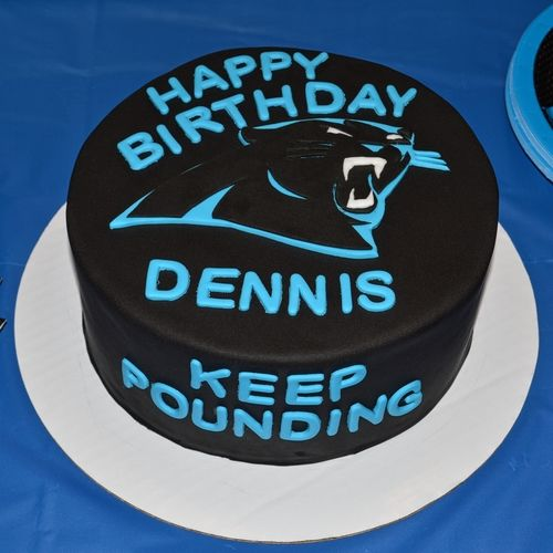 Carolina Panthers Birthday Cake  By www.freshbakedva.com Birthday Cake Roanoke VA, Custom Cake Roanoke, VA, Wedding Cake Roanoke VA, Salem VA Birthday Cake, Cake Salem Virginia, Roanoke Virginia Wedding Cake