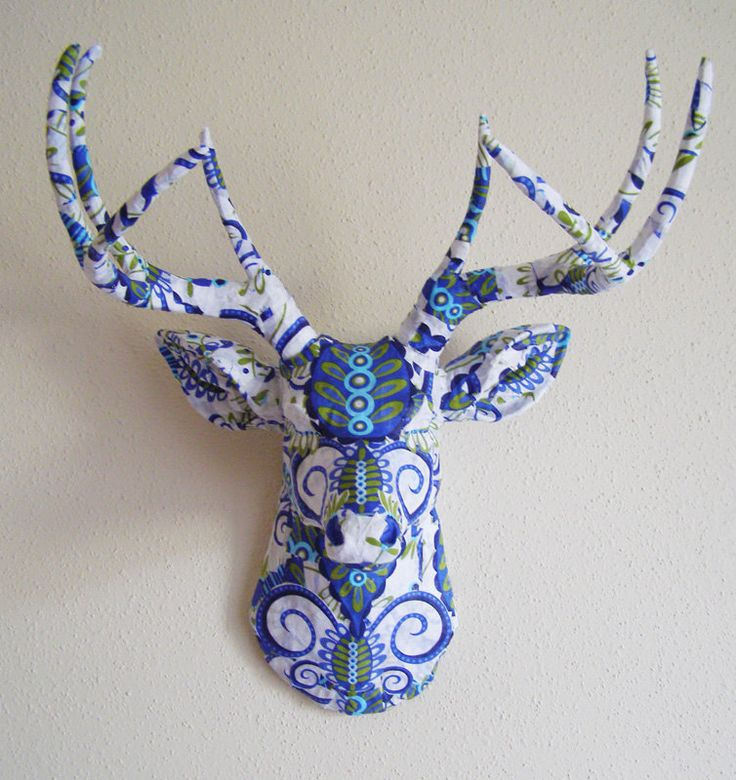 Doozie Blue Deer Head wall mount by BananaTreeStudios on Etsy, $220.00